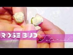 Paper rose bud tutorial! - YouTube