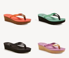 The comfort from Reef and the height of a wedge (in lots of cool colors!).