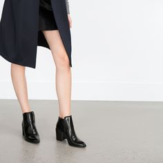 WIDE HEEL ANKLE BOOT - Shoes and bags - Woman - NEW IN | ZARA Georgia