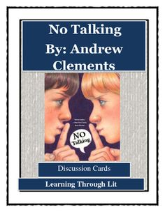 No talking andrew clements novel study reading comprehension higher order questions from each chapter to guide and encourage discussions perfect for publicscrutiny Gallery