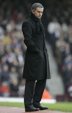June 7, 2013 - A SLEEKER look in all black for Jose Mourinho.