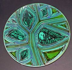 Carved Delphis dishes by Carol Holden, 1966-1969