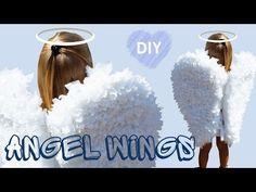 Disfraces caseros: Alas de ángel de niño de papel y cartón - YouTube