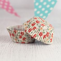 Orange Vintage Floral Cupcake Liners 12pcs from My Party Store