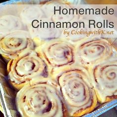Pumpkin Cinnamon Rolls, homemade dough that rises in They are filled with mixture of cinnamon, butter and brown sugar and lavishly topped with Brown Sugar Icing. Brown Sugar Icing, Powdered Sugar Icing, Flan, Pumpkin Cinnamon Rolls, Cinnamon Butter, Rolls Recipe, Sweet Roll Dough Recipe, Breakfast Recipes, Food And Drink