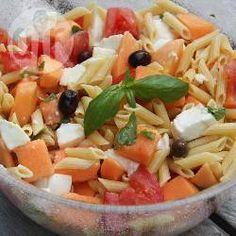 Recette Salade d'été aux pâtes, au melon et au jambon de parme