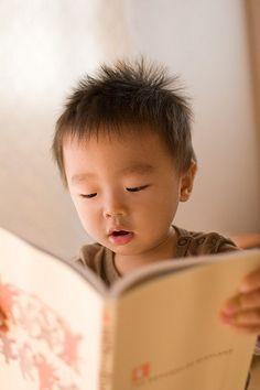 Adorable little reader....