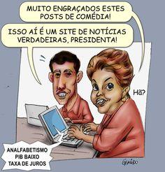 Dilma Fake encontra Dilma Real