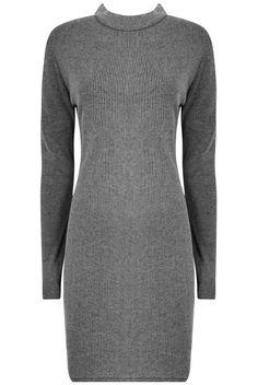 Designer Clothes, Shoes & Bags for Women Grey Turtleneck, Turtleneck Dress, Polo Neck, Gray Dress, Knit Dress, Turtle Neck, Sleeve Dresses, Long Sleeve, Sweaters