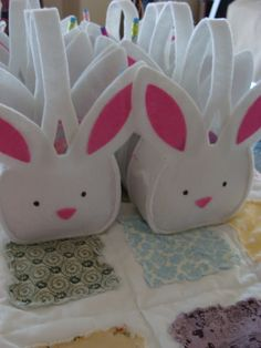 Thank you Target- for providing the cutest little Easter favors for our party. I filled these cute bunny baskets with a pencil, a plastic egg w/ candy, a bunny notepad, and a few other small items.