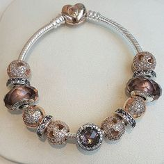 Pandora On Instagram Rose Is A Metal Blend Which Profiles Rare Beauty And Vintage Eal Pandorajewelry Charm Bracelet Charms