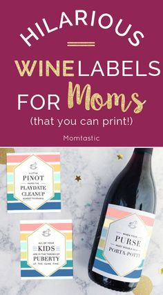 Funny wine labels for moms (that you can print!)