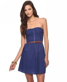 Casual Strapless Dress | FOREVER21 - color: navy---Sarah's wedding