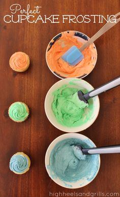 Perfect Cupcake Frosting. This recipe will make ANY box mix taste like it was straight outta the bakery! http://www.highheelsandgrills.com/2013/04/perfect-cupcake-frosting.html