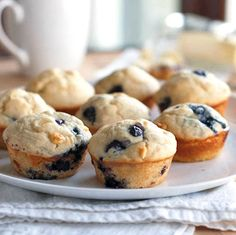 Just made these White Chocolate Blueberry muffins for my kids' parents, and they are amazing! It nearly destroyed me to stop at one, lol.