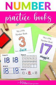 Practice writing your numbers 0 - 20 with these fun number writing books. Students write the number and color the number. They also fill in the ten frame. Great for math centers or homework. Can also be used in small group setting to practice number sense. Awesome for teen number sense also in prek or kindergarten. Number Sense Activities, Hands On Activities, Teen Numbers, Letters And Numbers, Writing Practice, Writing A Book, Miss Kindergarten, Daily Math, Book Names