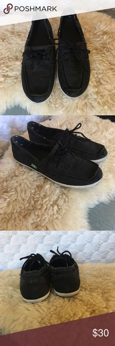 Sanuk black shoes Sanuk black shoes Sanuk Shoes Flats & Loafers