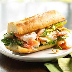 A New Orleans favorite, this hefty sandwich is typically served on a baguette. Combine mango with chilled shrimp, rather than the customary fried shrimp, for a fresh take on tradition.