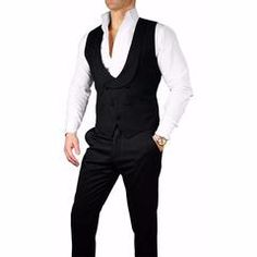 S by Sebastian Black Double Breasted Waistcoat- Sebastian Cruz Couture - Want to get OFF? Simply add 5 items to your cart. Double Breasted Waistcoat, Men's Waistcoat, Navy Blue Dress Shirt, Navy Blue Dresses, Tweed Jacket, Shirt Jacket, Stylish Waistcoats, Dinner Jacket, Blue Trousers