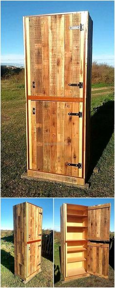 This is another one of the fine ideas of retransforming the useless wood pallet boards of your home into this useful wooden product. The entire construction of this project is made with the premium use of pallet planks into it. You will for sure find it the best creation to meet the storage needs as well as a great beautiful plan to give your place a charming appearance.