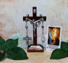 Unbreakable Novena Catholic Relic Chaplet of St. Peregrine Laziosi - Patron Saint of Cancer Patients and the Seriously Ill by foodforthesoul on Etsy
