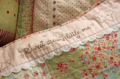 Free Pattern for Sweet Dreams Little One,includes a little star and sleeping kitten on it . Adorable! I LOVE this woman's blog Nana Company --  P_2483