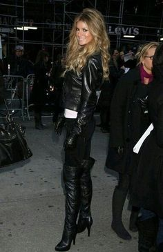 My fantasy date outfit! #highheelbootsleather