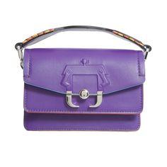 Mini Twi Twi Bag (43.600 RUB) ❤ liked on Polyvore featuring bags, handbags, shoulder bags, viola, womenbagstotes, purple leather handbags, purple leather shoulder bag, real leather purses, mini purse and shoulder strap bags