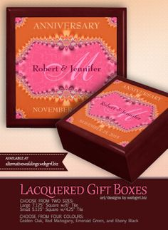 ... Gift Boxes on Pinterest Anniversary gifts, Alternative wedding and