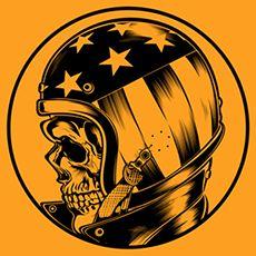T-Shirt design Harley-Davidson - Official catalogue USA - Copyright Harley-Davidson. Pin-up Model Bernie Dexter USA.