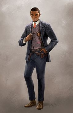 Black Characters, Dnd Characters, Fantasy Characters, Character Concept, Character Art, Call Of Cthulhu Rpg, Steampunk Characters, Westerns, Le Far West