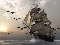 By Sail.