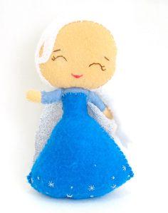Disney Princess Felt Doll Elsa from Disney Frozen by LaLaLaDesigns, $30.00
