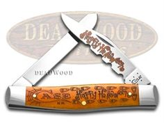CASE XX 2015 Halloween Persimmon Bone Moose Stainless Pocket Knife Knives