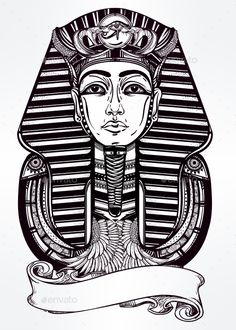 Vintage Pharaoh — JPG Image #element #egypt • Available here → https://graphicriver.net/item/-vintage-pharaoh/14940520?ref=pxcr