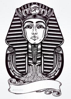 Vintage Pharaoh — JPG Image #element #egypt • Available here → https://graphicriver.net/item/-vintage-pharaoh/14940520?ref=pxcr