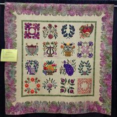 My Baltimore Quilt, made by Pat Nielson, quilted by Dawn Smith. Photo by Diary of a Quilt Maven: Highlights from the 2012 Trinity Valley Quilt Show