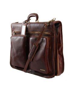b3dbe7f44052 Italian Leather Garment Bag TAHITI by Tuscany Italian Leather Sizing 21.26  x 16.54 x 7.09 in