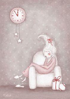 on Behance - Sasha Salmina Art And Illustration, Christmas Illustration, Watercolor Illustration, Christmas Drawing, Christmas Paintings, Christmas Images, Christmas Art, Picture Sharing, Cartoon Sketches