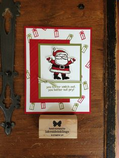Stampin' Up! Get Your Santa on, occasions catalogue 2014-15, Christmas cards Www.lakesideinklings.stampinup.net