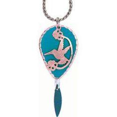 Hummingbird Blue Patina Necklace