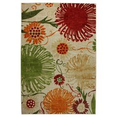 @Overstock - Flower Shower Multi-colored Area Rug. Flirty and fun, this bright floral rug is a great way to liven up your decor. You can instantly transform any room in your home with this luxurious, chic and durable tufted rug.http://www.overstock.com/Home-Garden/Flower-Shower-Multi-colored-Area-Rug/7549805/product.html?CID=219283