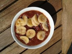 Fit Food Travel: Raw vegan Banana and Chocolate pudding