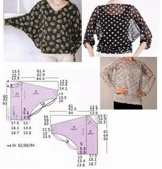New sewing patterns free tops blouses patron de couture Ideas Dress Sewing Patterns, Blouse Patterns, Sewing Patterns Free, Sewing Tutorials, Clothing Patterns, Sewing Tips, Free Pattern, Sewing Projects, Fabric Sewing
