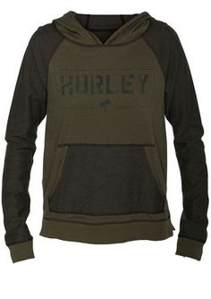 """Hurley Quinn Reversible Pullover Hoodie  Tops Sweatshirts on discounted price from """"Jacks Surfboard's"""" Use coupon and promotional codes."""