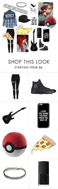 """""""Michael Clifford"""" by cuddlingmuke ❤ liked on Polyvore featuring Topshop, Converse, Casetify, Tattly, NARS Cosmetics and mukeislife"""