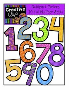 scrappy fun numbers clipart for teachers classroom resources rh pinterest com  free number clipart for teachers