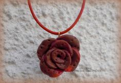 clay rose pendant Washer Necklace, Pendant Necklace, Handmade Necklaces, Clay, Pendants, Rose, Jewelry, Clays, Pink