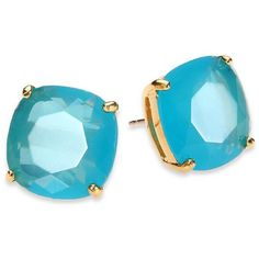 Kate Spade New York Small Square Stud Earrings (50 CAD) ❤ liked on Polyvore featuring jewelry, earrings, blue, square earrings, lightweight earrings, stud earrings, post back earrings and kate spade jewelry