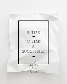 tips to start a successful web shop www.ohyeicr.com